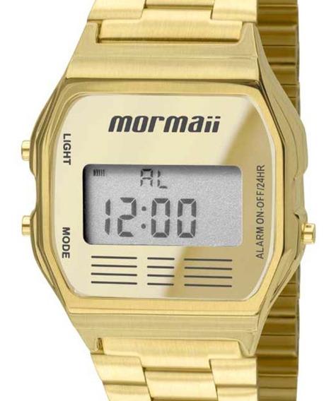 Relógio Mormaii Dourado Digital Vintage Feminino Mojh02ab/4d