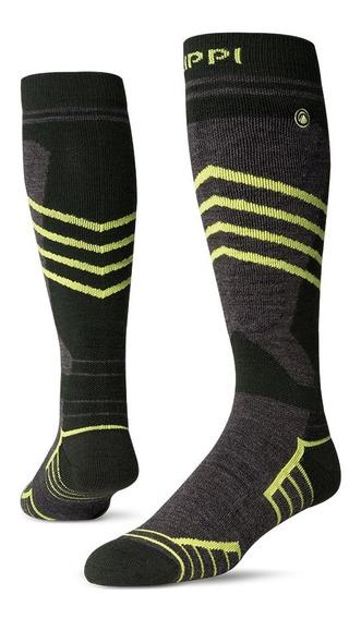 Calcetin Hombre Angles Line Ski Socks Large Verde Lippi