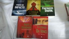 Lote 5 Livros Dan Brown Romances Titulos Conforme Foto
