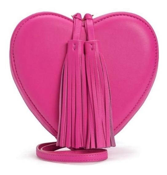 Juicy Couture Bolsa Cruzada Rosa En Forma De Corazon Amyglo