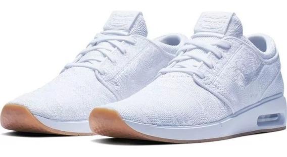 Zapatillas Nike Janoski Air Max 2 Tela Blanca 100% Original