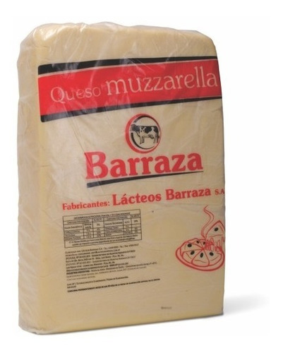 Muzzarella Barraza Plancha Por 10 Kilos