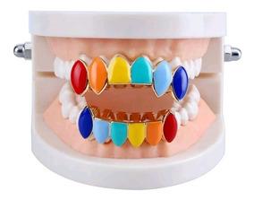 Grillz 6ix9ine Dental Cor Ouro Doloridos Conjunto Hip Hop