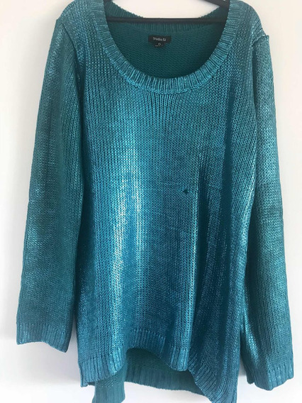 Precioso Suéter Studio Si Talla G Mex 32 Azul Brillante