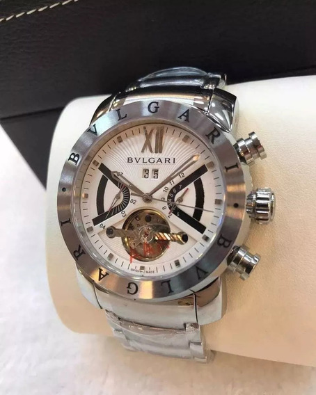 Relógio Ggt8585 Masculino Iron Man Prata Branco Automatico