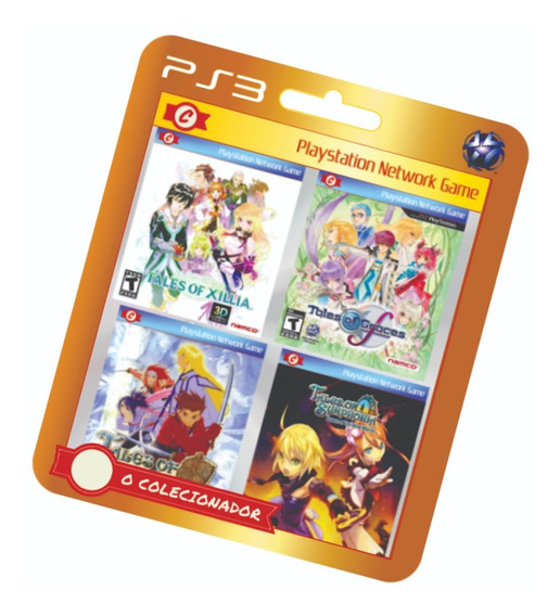 4 Jogos Tales Of Xillia, Graces, Symphonia, Dawn (ps3)