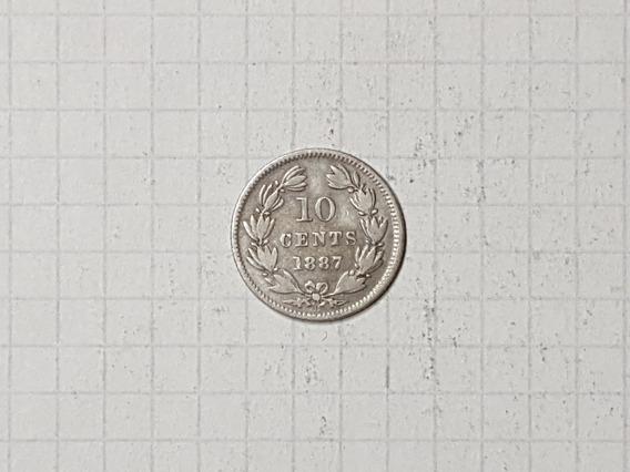 Nicaragua 10 Centavos Plata 1887