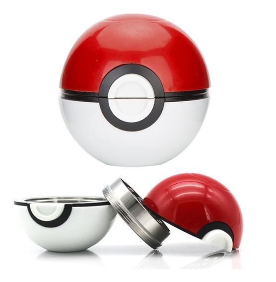 Grinder Pokeball 3 Partes Pokemon Moledor Hierba Polinizador