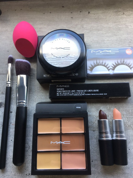 Lote Set Mac Contorno Strobing Labial Marron/nude Hot Sale
