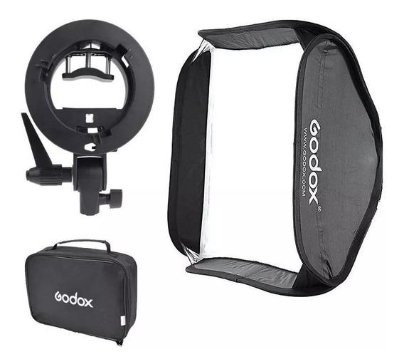 Softbox P/ Flash Speedlight 60x60 Godox / Dobravel