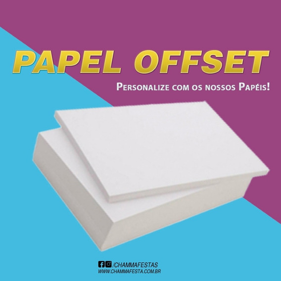 Kit Papel Off Set Chambril 180g A4 500 Fls