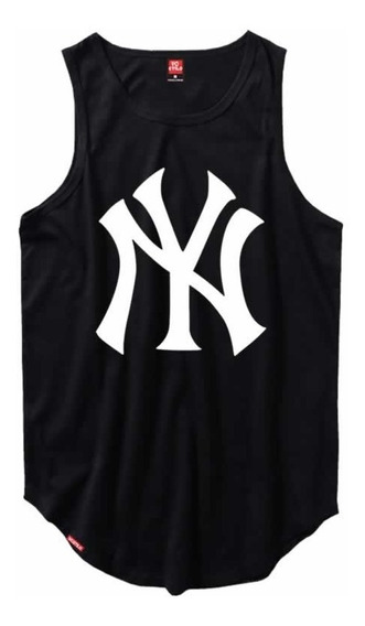 Kit 3 Camiseta Regata Masculina Longline C83 New York
