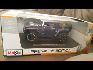 Carrinho Miniatura Hummer Hx Concept Azul Maisto 1/18 Coleci