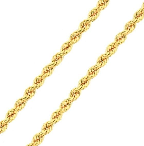 Corrente Feminina Cordão Baiano Ouro 18k 45cm Grossa