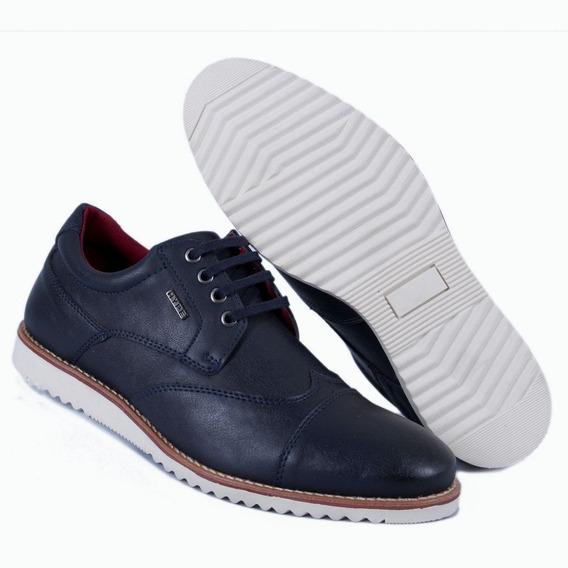 Sapato Oxford Masculino Sapatênis Casual Azul Escuro