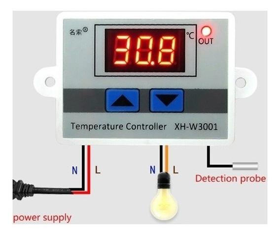 Controlador Temperatura Digital Chocadeira Estufa Dc 12v
