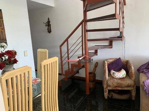 Cobertura Duplex Em Laranjeiras Com: Três Quartos Uma Suite, Uma Vaga, Com Infra - Co0215