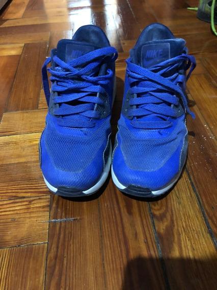 Zapatillas Nike Air Max Niños Talle 36 Azules