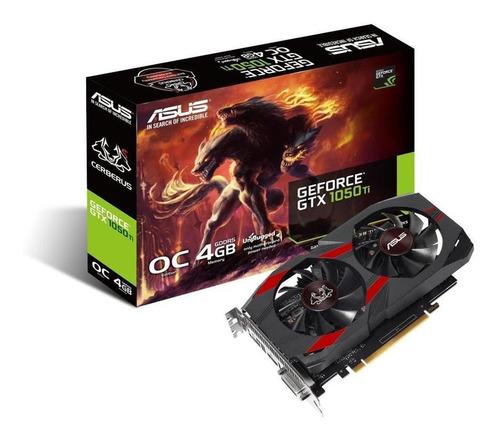 Imagem 1 de 5 de Placa De Vídeo Asus Geforce Gtx 1050 Ti 4gb Dual Oc Cerberus