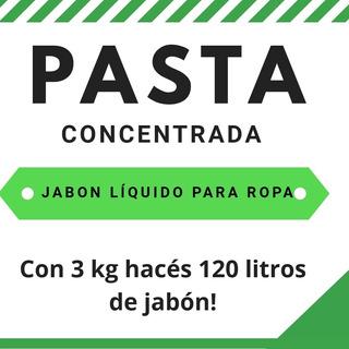 Pasta Concentrada Jabon Liquido Para Ropa 120 L Ver Video!