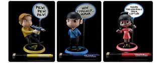 Funko Pop - Q Fig - Star Trek - Capitan Kirk - Spock - Flash