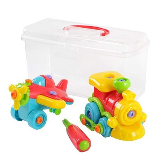 Playgo Build It Apprentice Estuche Tren De Construcción!