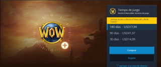 Ficha De Wow, 30 Dias De Juego De World Of Warcraft