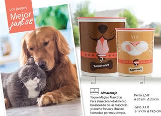 Pote Hermético Alimento Para Mascotas Perro Gato Tupperware