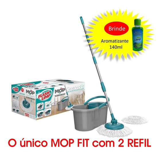 Mop Spin Girátorio Flashlimp Original Fit 8lt