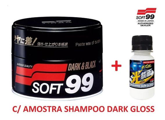 Cera Carnaúba Premium 300g Soft99 Dark & Black C/ Amostra Sh