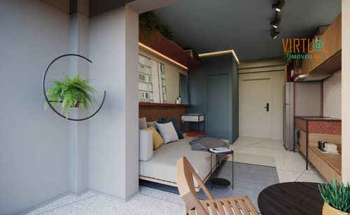 Studio Com 1 Dormitório À Venda, 23 M²  - Paraíso - São Paulo/sp - St0008