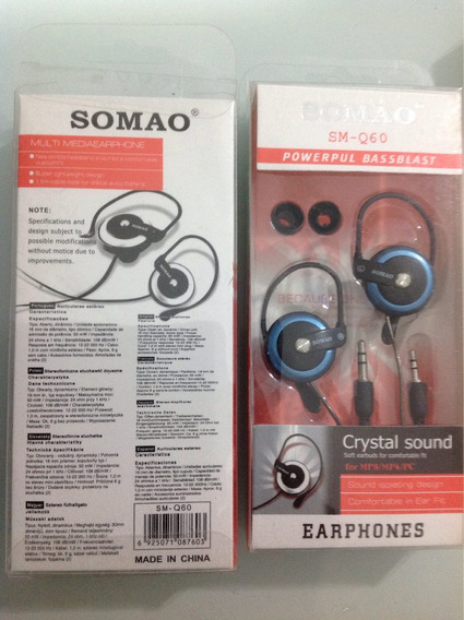 Fones De Ouvido On Ear Sm-q60 Crystal Sound Multimédia