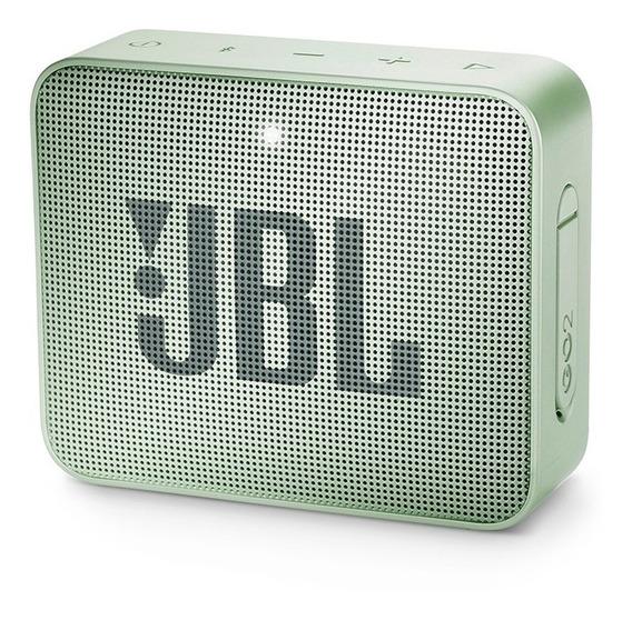 Caixa Portátil Jbl Box Go 2 3w Verde Bluetooth Prova D
