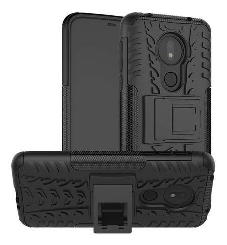 Imagen 1 de 4 de Estuche Antichoque Jkase Motorola Moto G7 Power - Negro