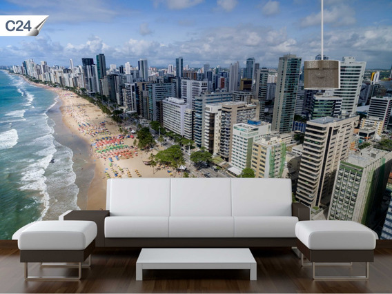 Papel De Parede Adesivo Contact Cidades Recife Lavável - C24