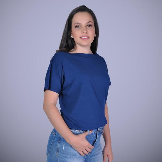 Kit 4 Camisetas Gola Canoa Feminina Cores Básicas Em Viscolycra