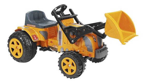 Mini Veículo Infantil Fazendeiro Trator C/ Pá Biemme E Pedal