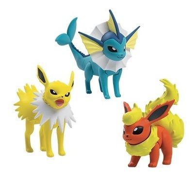Pokémon Figure Pack 3 Jolteon, Vaporeon E Flareon - Tomy