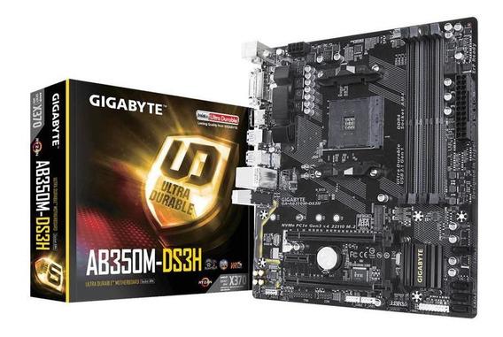 Motherboard Gigabyte Ab350m-ds3h Ryzen 3 5 2400g 2600 7 2700