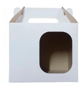 100 Caixinhas Com Visor Para Canecas De Porcelana Até 325ml