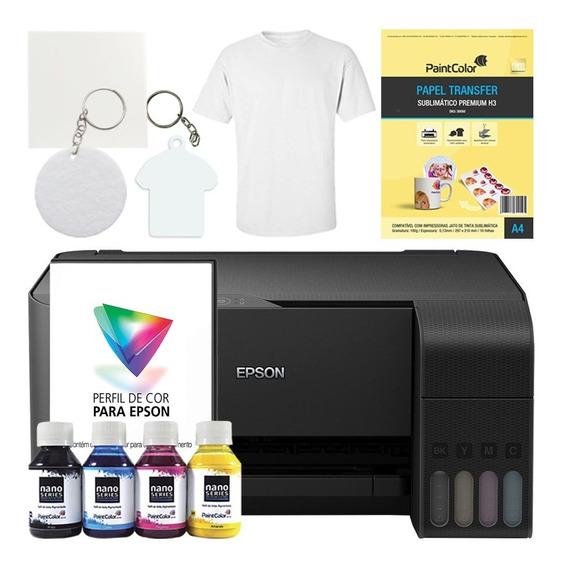 Impressora Sublimática L3110 + Kit Completo De Produtos Ligh