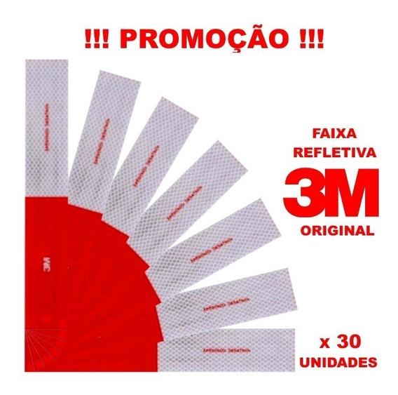 Kit 30 Faixa Refletiva Lateral 3m Original