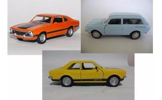 3 Miniatura Carro Metal Maverick E Variant E Chevette Gp2