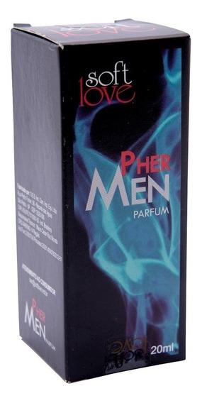 Kit Com 2 Perfumes Masculino Pher Men Barato Atração 20ml
