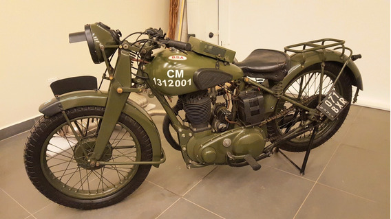 Moto Bsa 1947 Militar Orig Impecable Unica