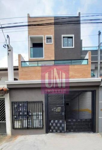Imagem 1 de 9 de Apartamento Com 2 Dormitórios À Venda, 44 M² Por R$ 239.000,00 - Vila Curuçá - Santo André/sp - Ap2103