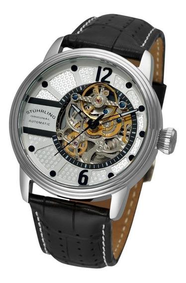 Reloj Hombre Piel Cocodrilo 308a.33152 Stuhrling Original