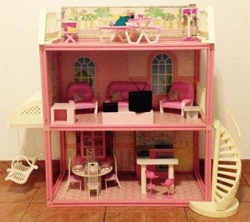 Casa Da Barbie_completa_vintage_anos 90 Com Brindes