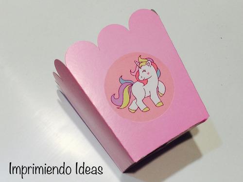 Cajitas Golosineras Cotillón Cumpleaños Unicornios