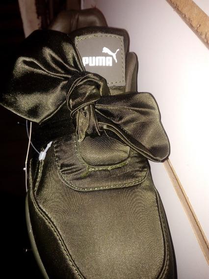 Zapato Deportivo Para Niñas Model Rihanna Pum Verde Talla 36